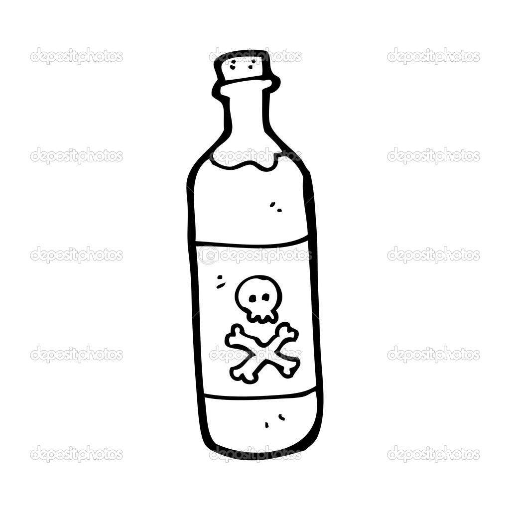 Bottle Of Poison Cartoon
