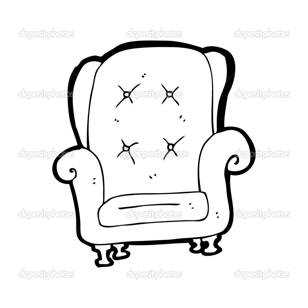 Old Leather Chair Cartoon