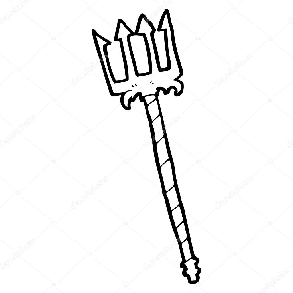 Poseidon S Trident Coloring Pages