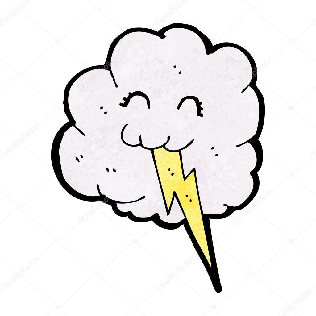 Cute Thunder Cloud Cartoon