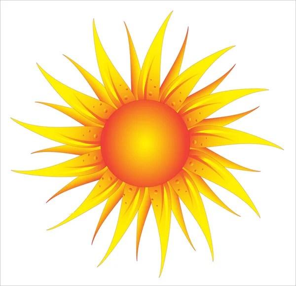 Стилизованное солнце — Векторное изображение © markovka ...
