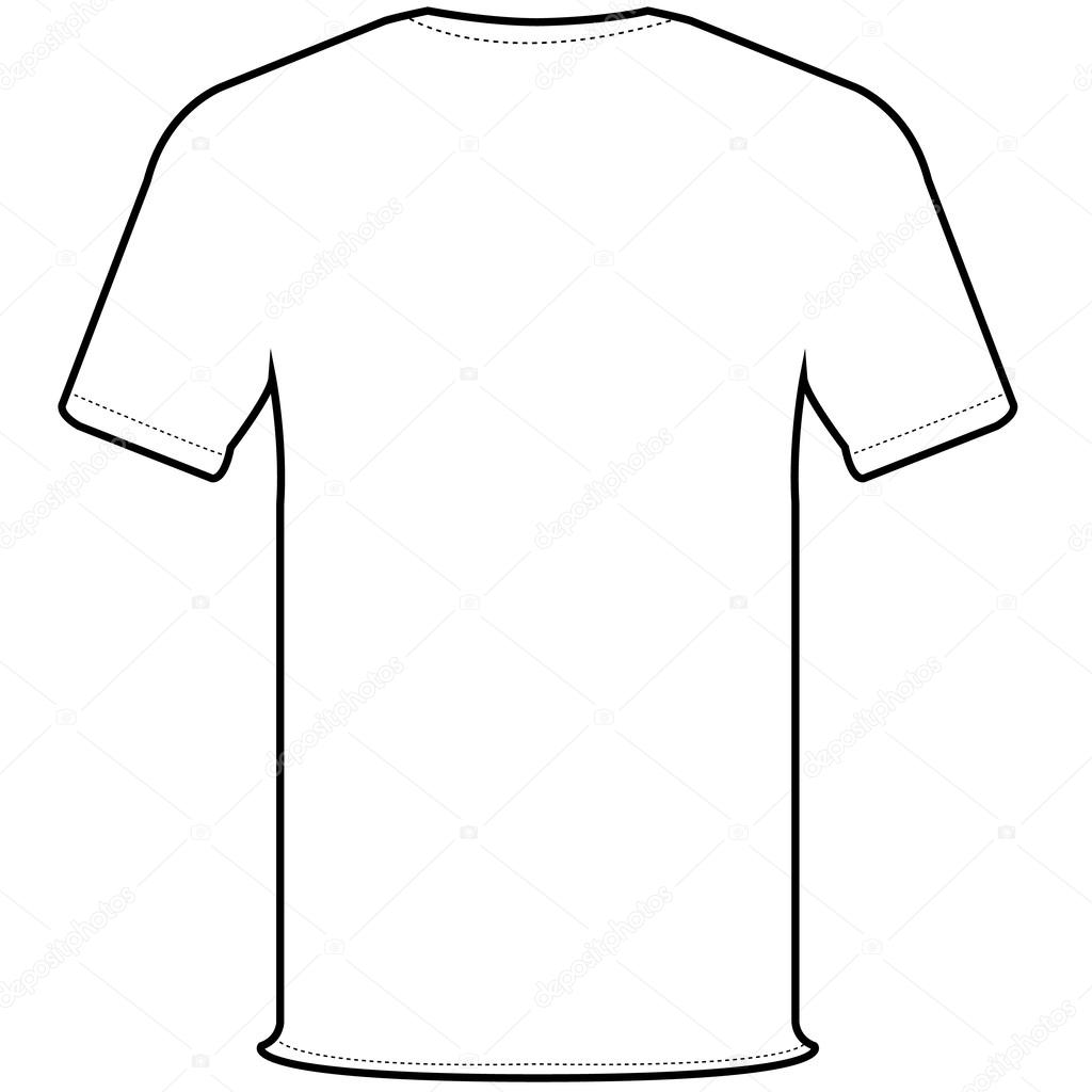 Back T Shirt Vector