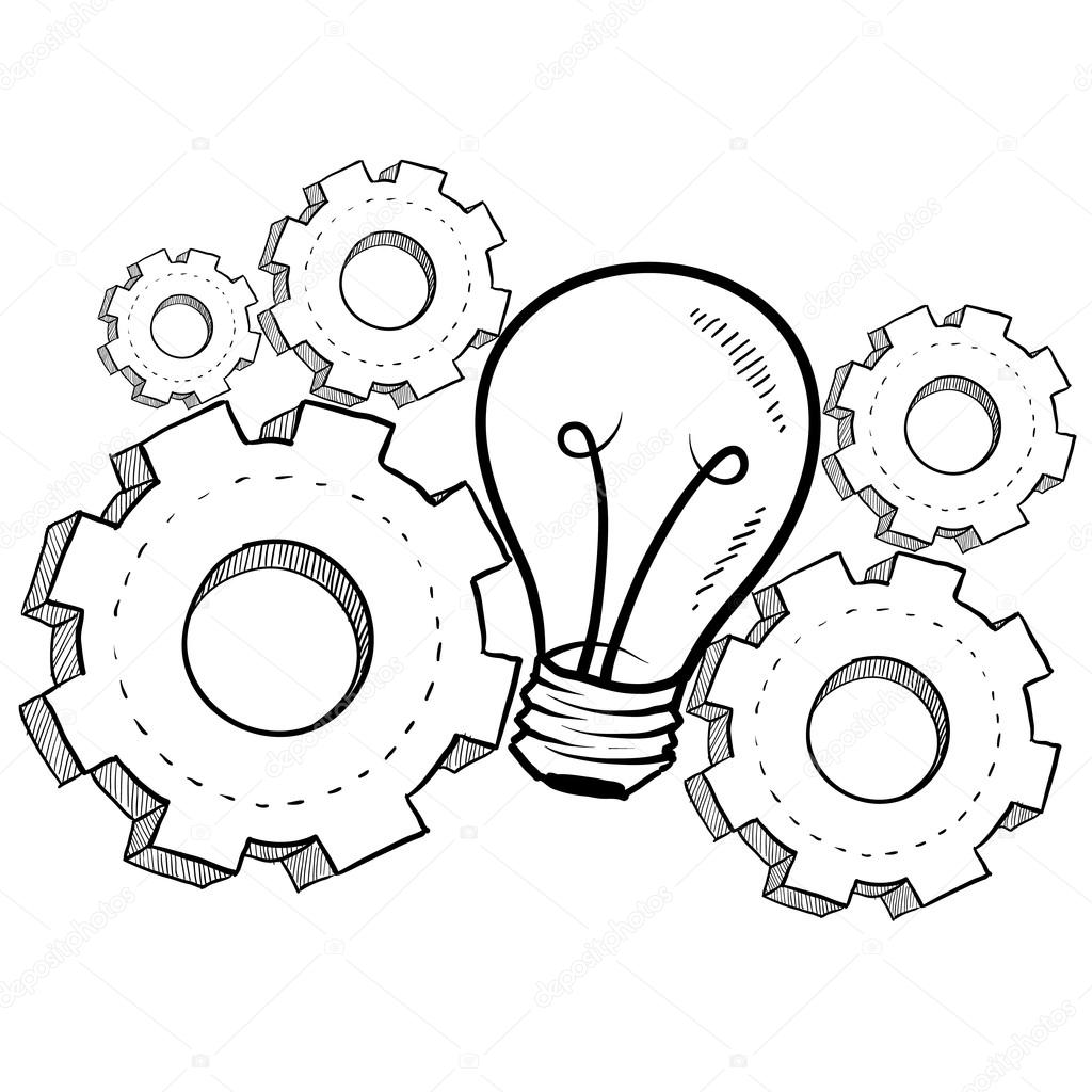 Working The Gears Of Invention Sketch