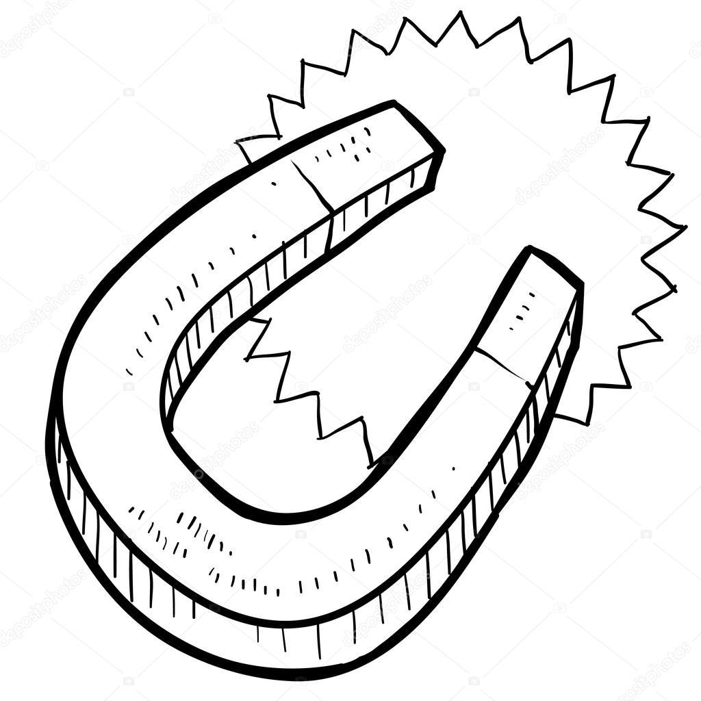 Horseshoe Magnet Sketch