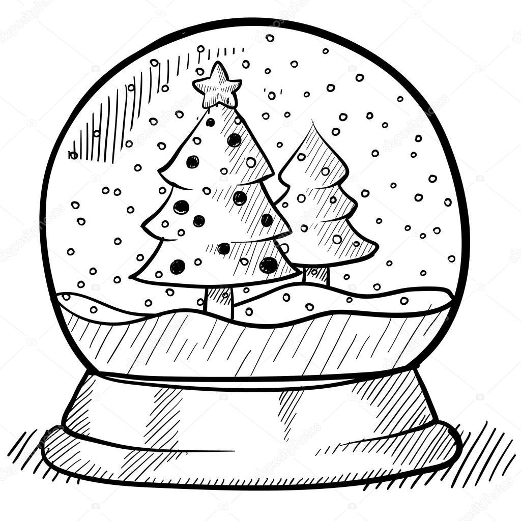 Christmas Snowglobe Sketch
