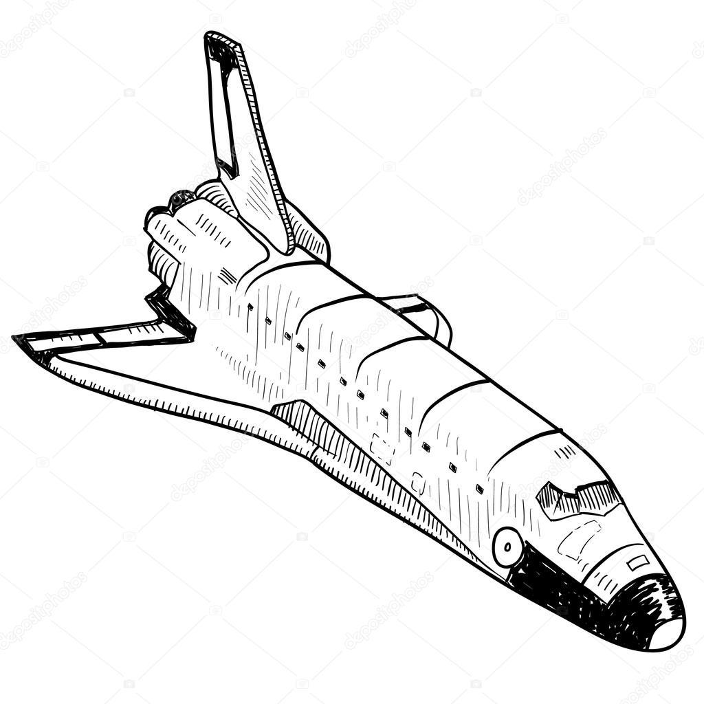 Space Shuttle Sketch
