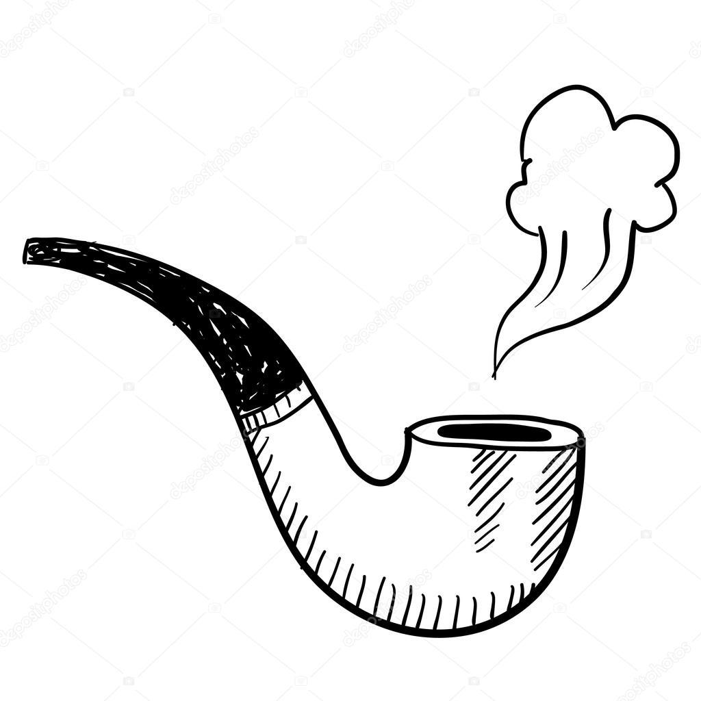 Croquis De Pipe De Tabac