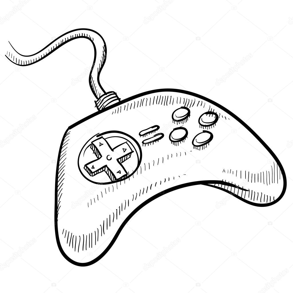 Video Game Controller Sketch