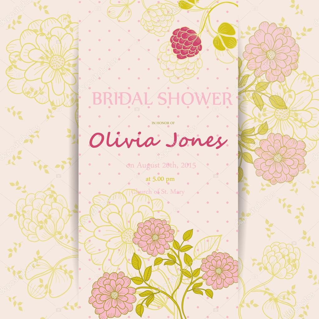 Bridal-Shower Invitations Templates Archives - Greeting Zone