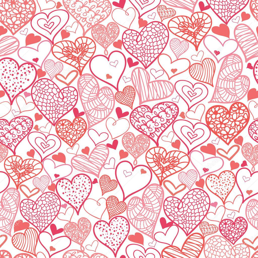 Valentine S Day Hearts Seamless Pattern Background