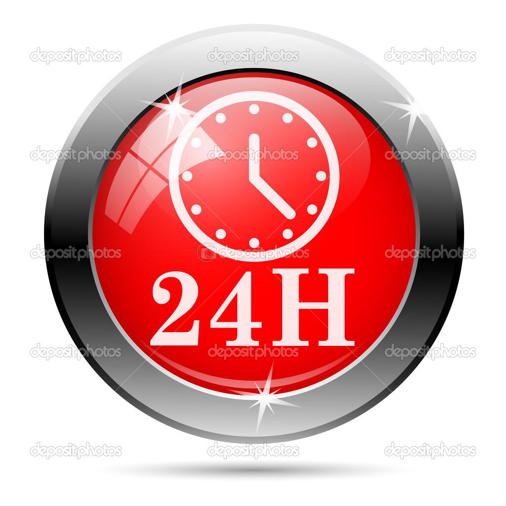 Clock 24 Hours Icon
