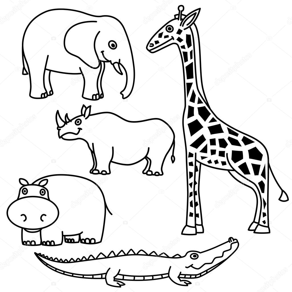 Outline Animals Outline Animals Set Stock Vector C Beatwalk 37798379