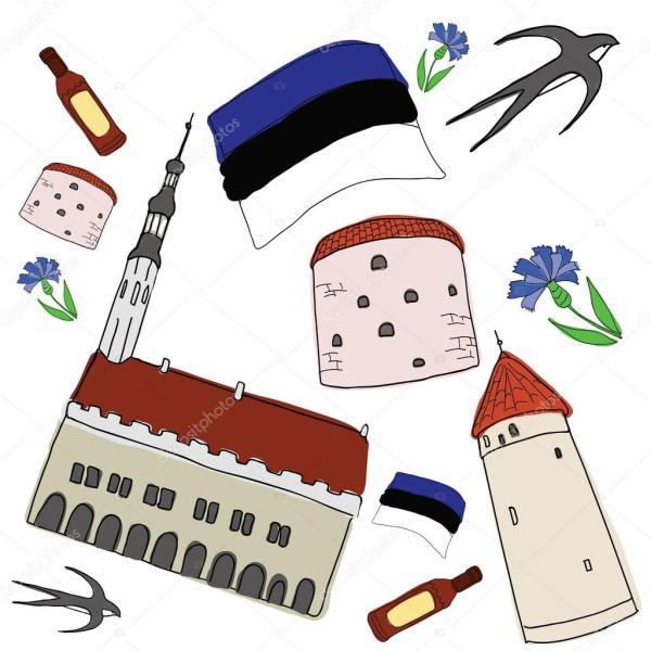 Вектор символы из Эстонии — Векторное изображение ...