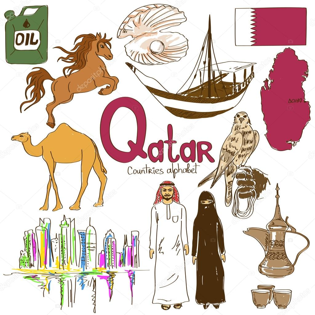 Collection Of Qatar Icons