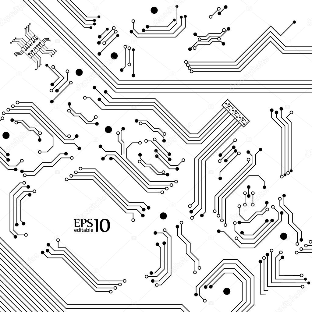 Digital Background From Electric Circuit