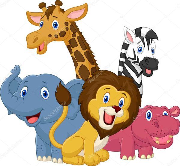 Safari animals — Stock Vector © tigatelu #44737985