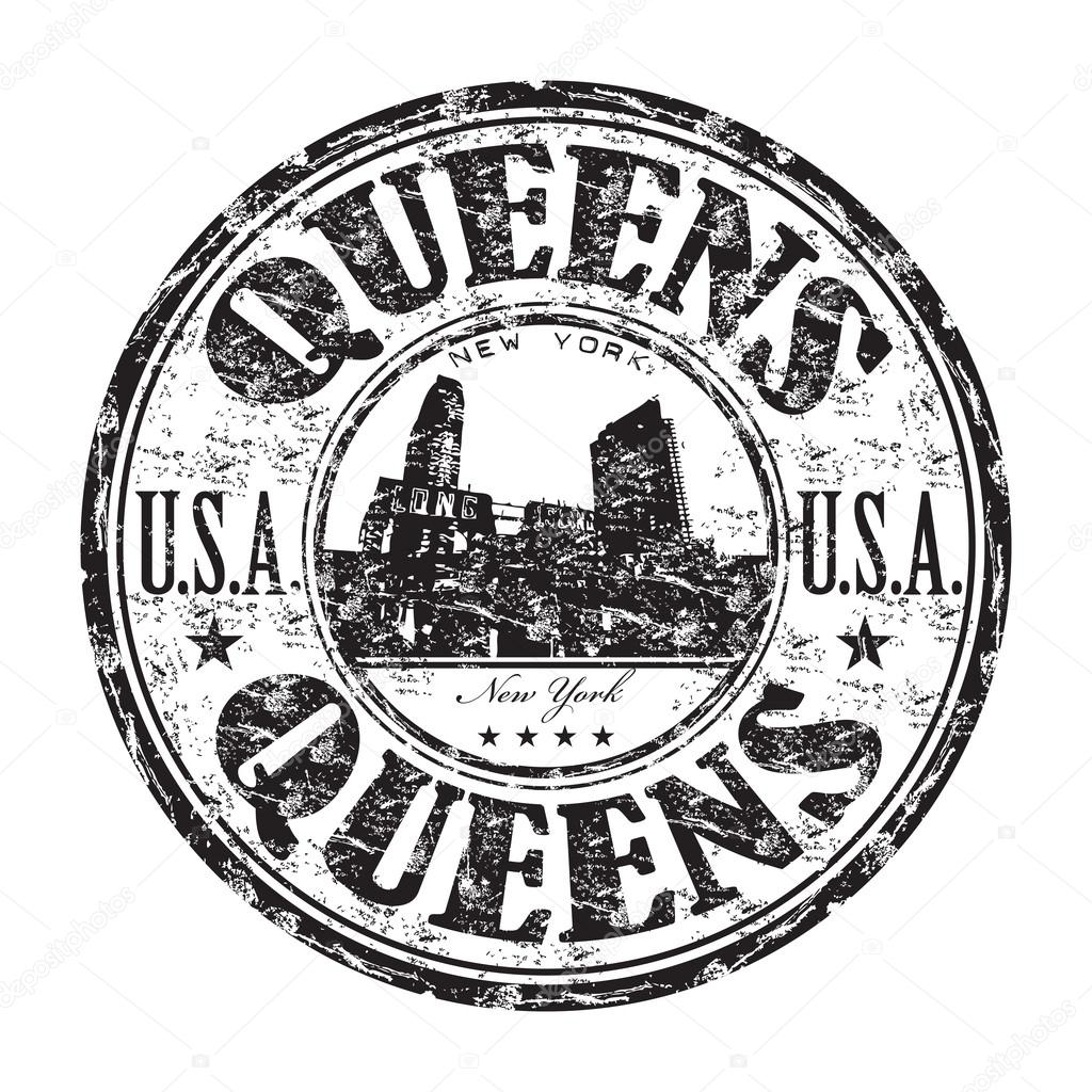Queens New York Rubber Stamp