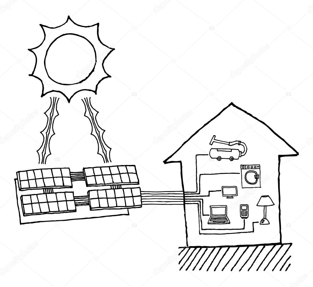 Solar Power Graphic Cheap Energy Working Diagram