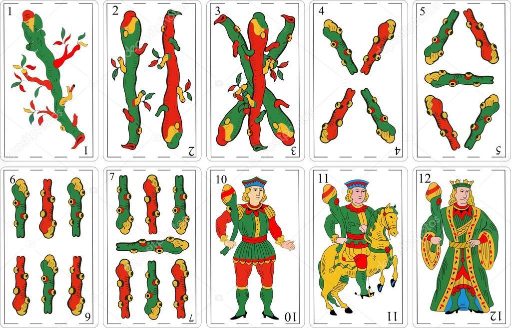 Spanish Decks Cartas Espaolas Vector De Stock