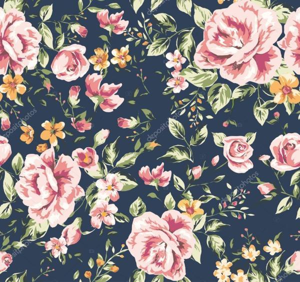 Seamless classic wallpaper vintage flower pattern