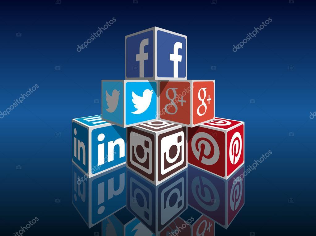 Concetto di media sociali — Vettoriali Stock