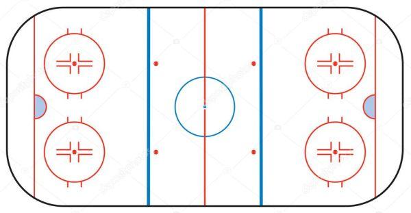 Pista de hockey sobre hielo Archivo Im225genes Vectoriales