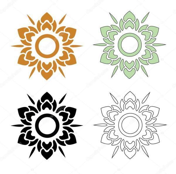Тайский шаблон цветок Векторное изображение