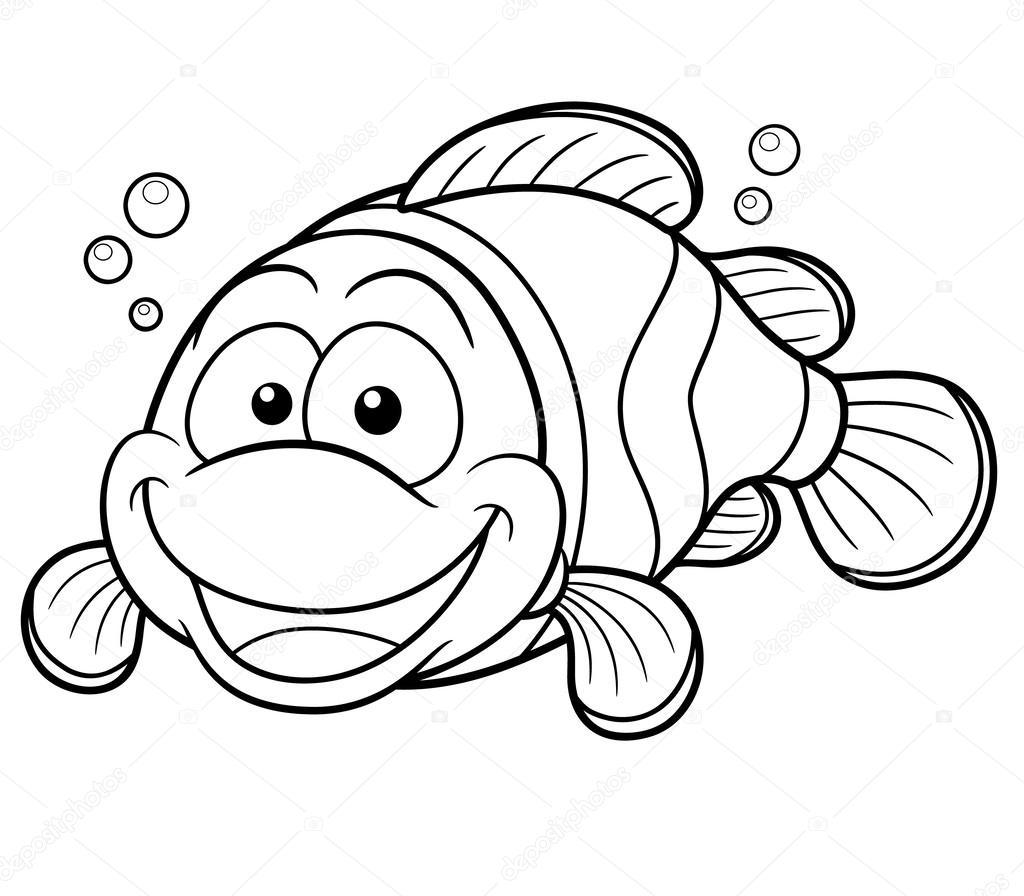 Happy Clownfish Cartoon