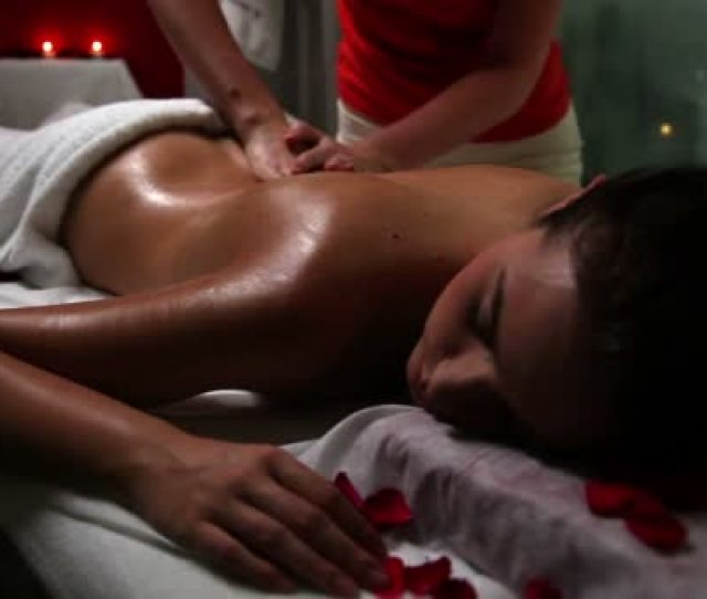Woman Enjoying Sensual Massage In A Beauty Spa Salon Stock Video