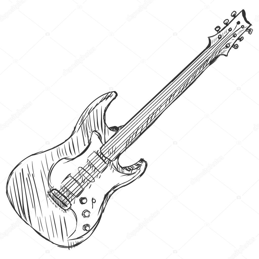Vector Sketch Electric Guitar