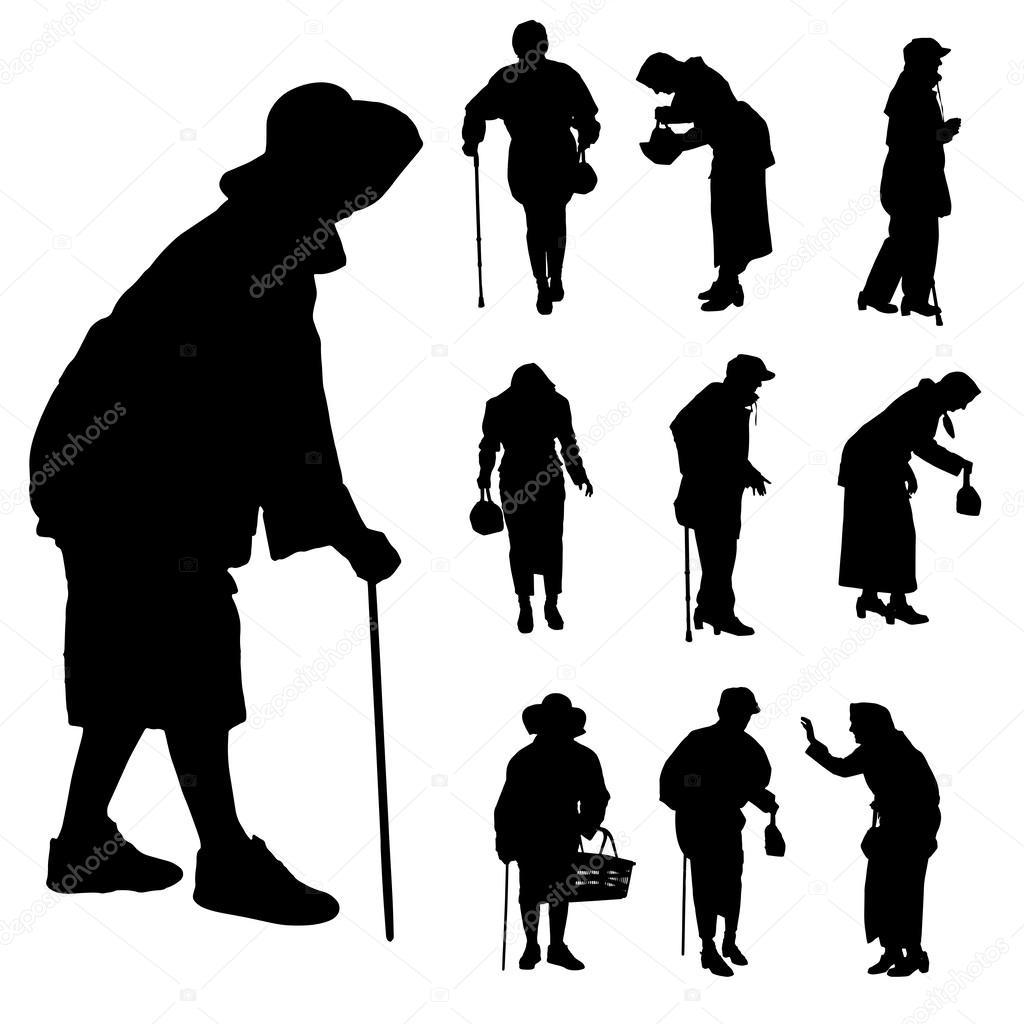 Older People Faces Clip Art