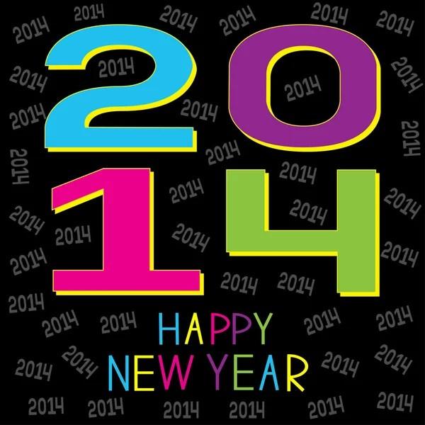 Happy New year 2014.  — Stock Vector