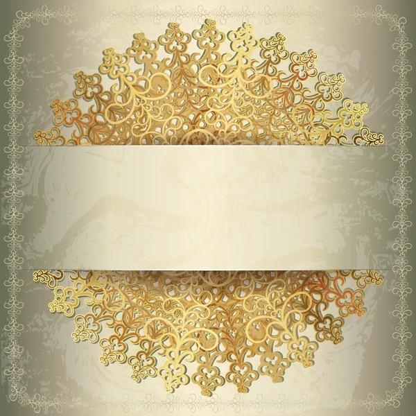 golden wedding card background vectors