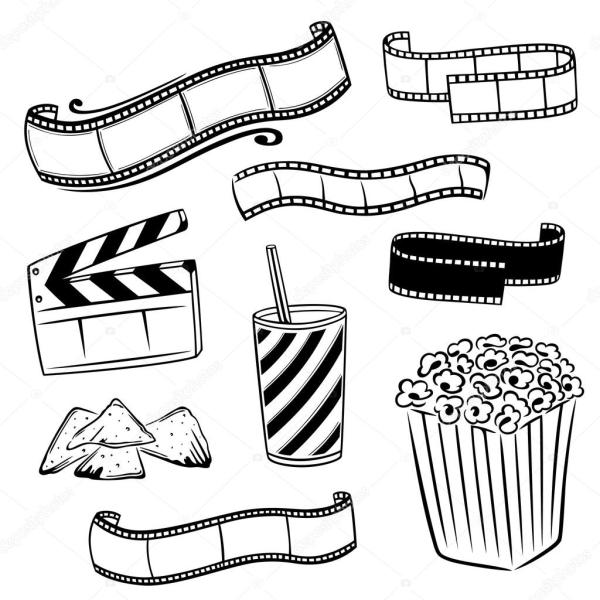 Cinema, popcorn, movies — Stock Vector © christine_krahl ...