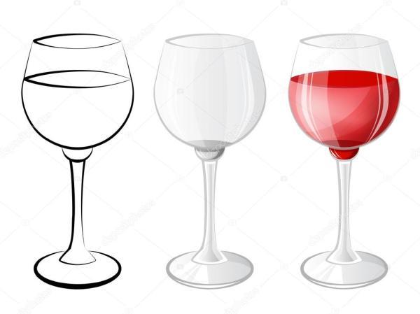Вектор бокал вина Бокал вина Векторное изображение