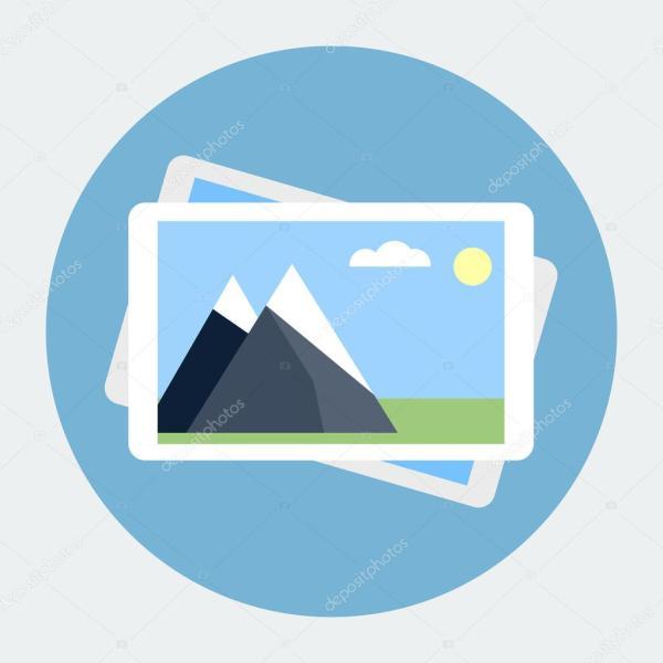 Photo gallery flat icon — Stock Vector © dacianlogan #40703383