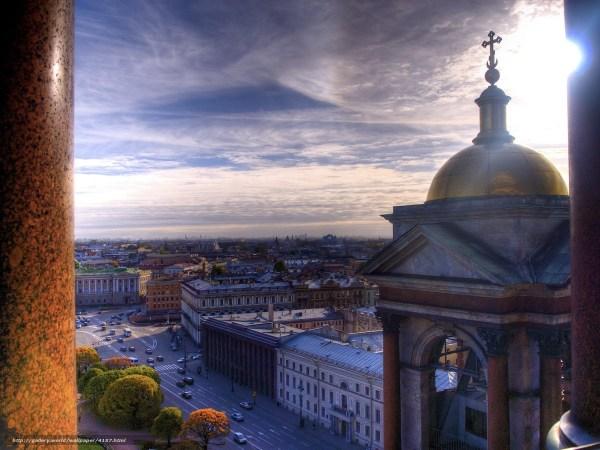 Скачать обои санкт-петербург, питер, колонны, исаакиевский ...