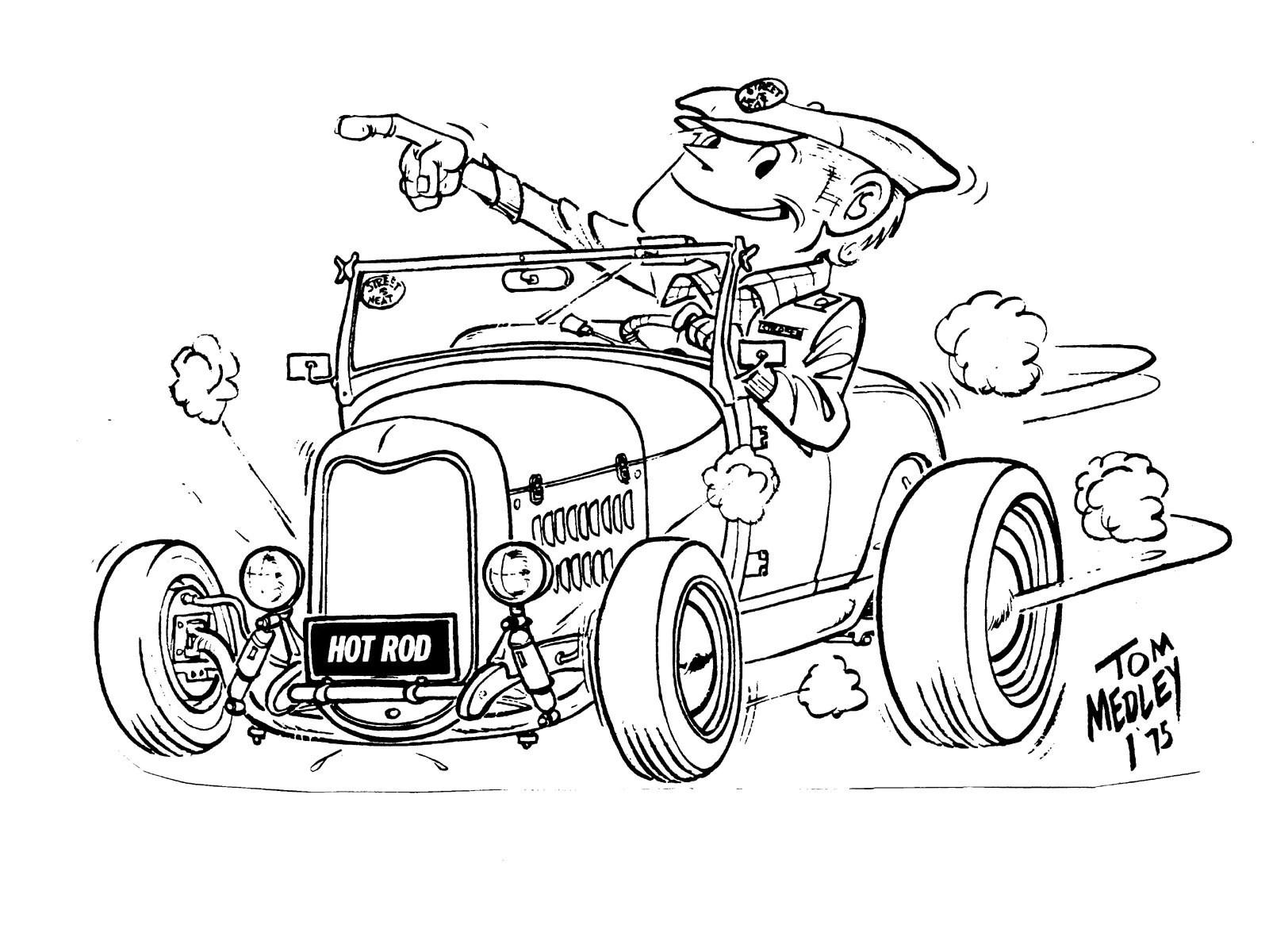 Rat Rod Cartoon