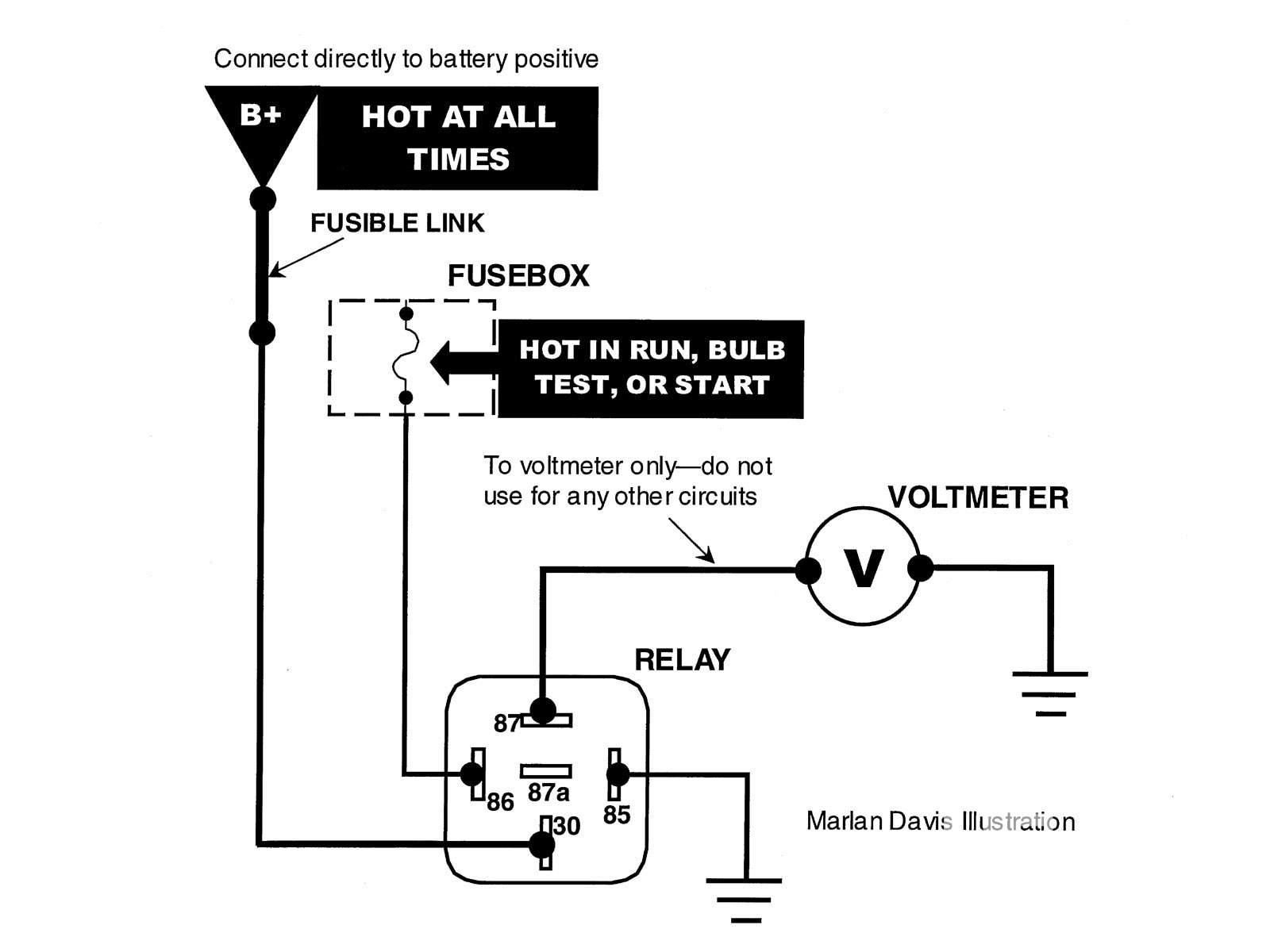 How To Wire Cooling Fans Headlights Fuel Pumps Amp Voltmeters