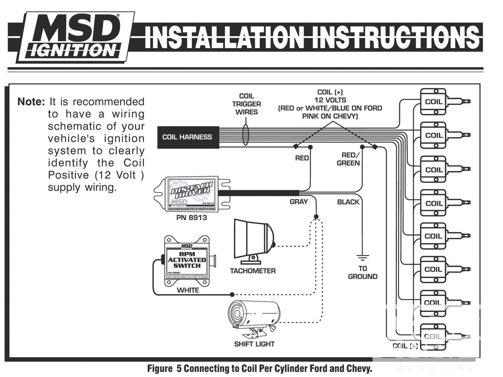 Electronic Ignition Tach Install