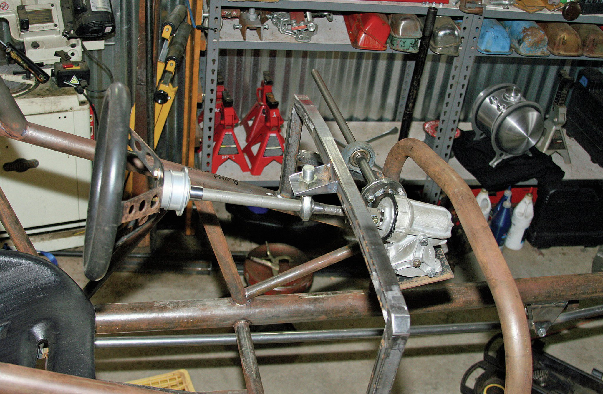 Setting Up The Steering Box And Column In Our Altered