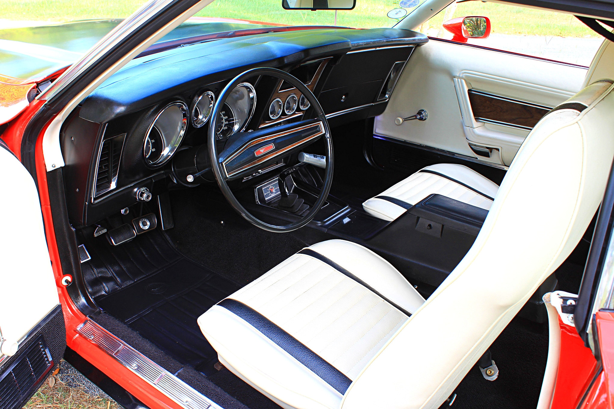 07 1971 ford mustang boss 351 red interior