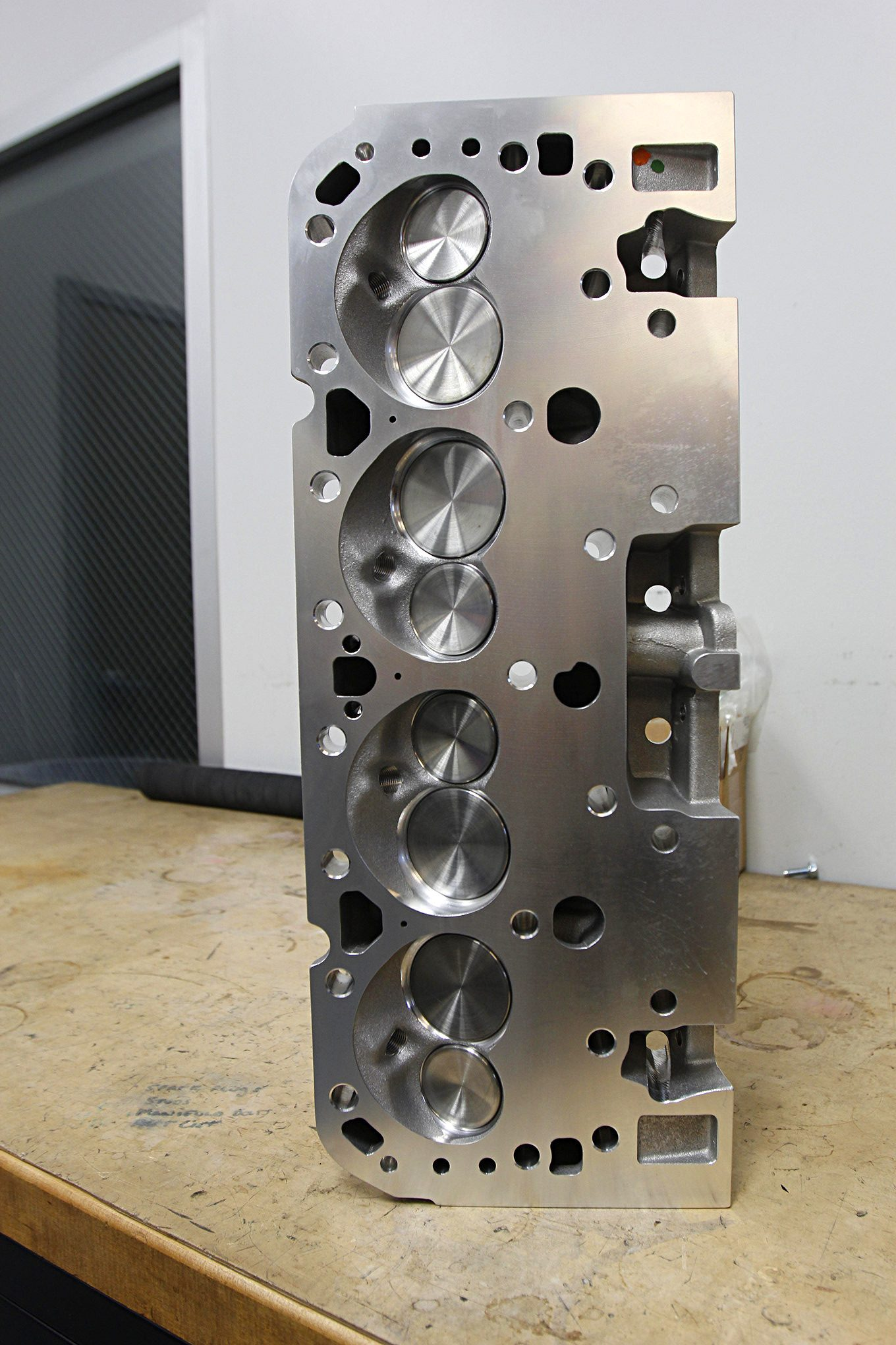 Trick Flow contributed a set of its as-cast, 195cc cylinder heads. With 65cc combustion chambers and flat-top pistons, the compression ratio will be a pump-gas-friendly 10.0:1.