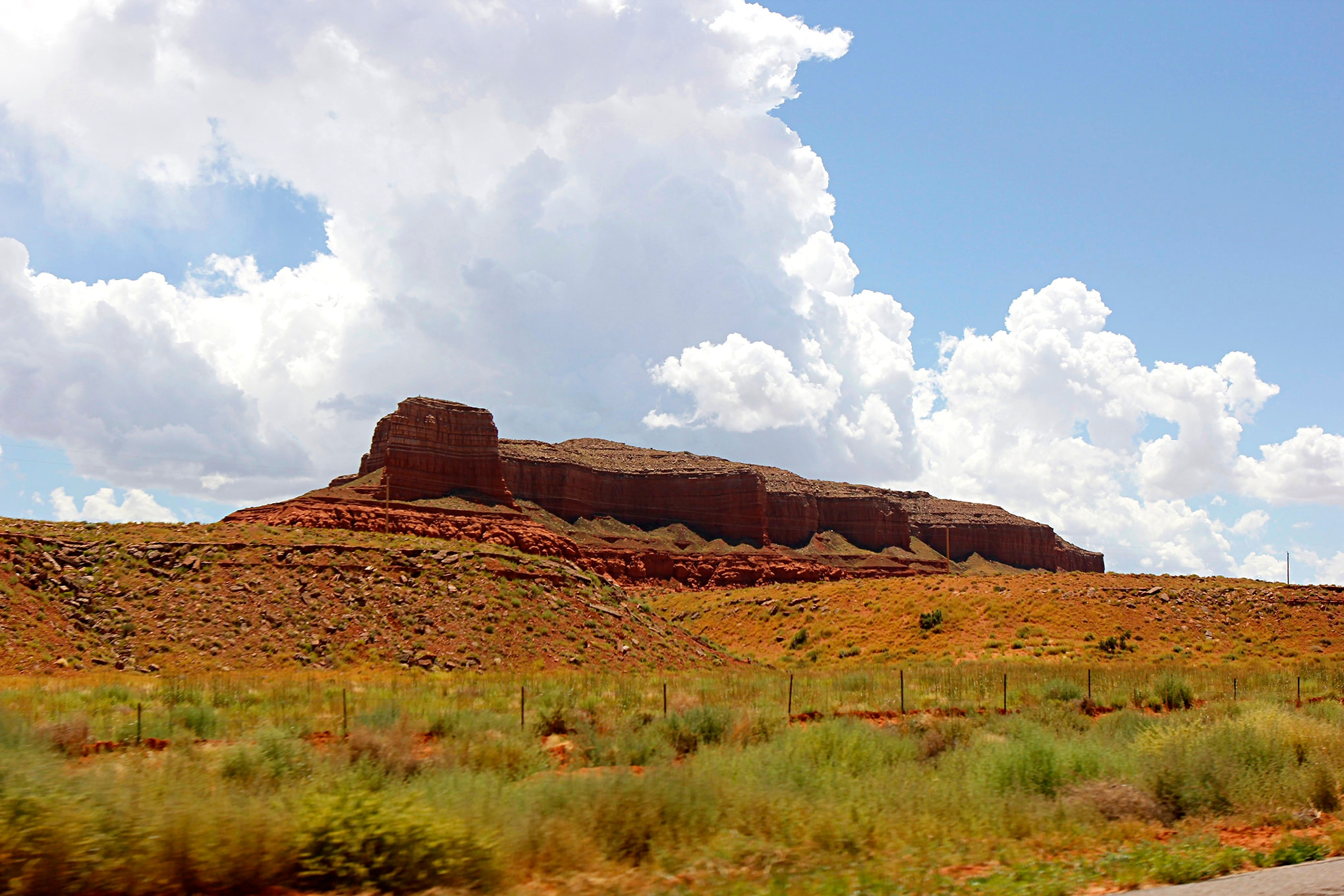 The road leading from the Four Corners to the Grand Canyon, U.S. 160, is a lonely one, but the scenery is stunning.