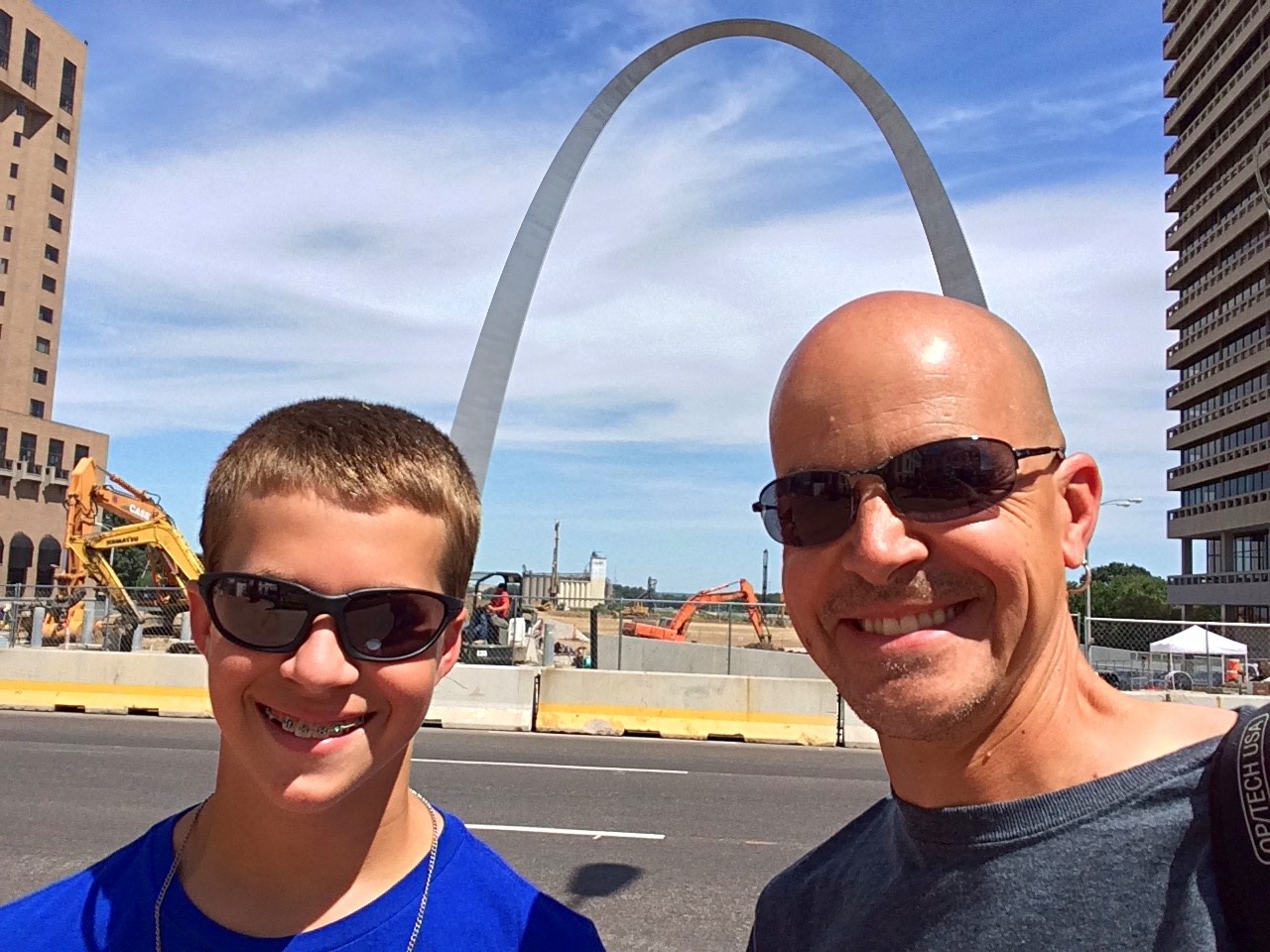 The next day's adventures took us to the top of the Gateway Arch in St. Louis, an engineering marvel that was built in the 1960s.