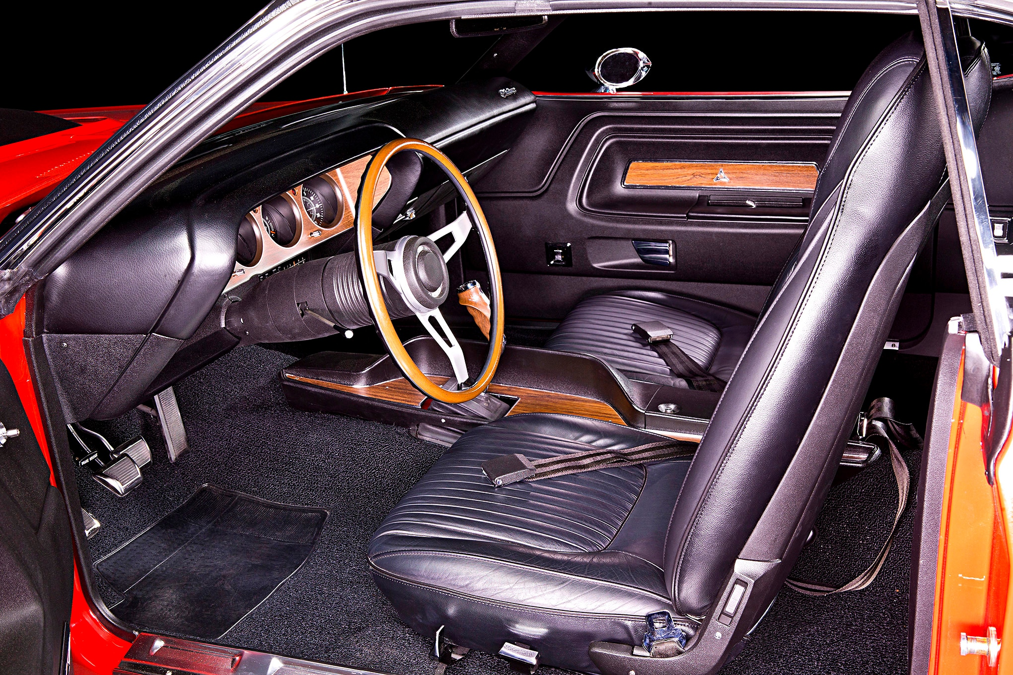 The few interior deviations from factory stock that Kennedy wanted were a factory six-way power seat, power windows, and an AM/FM thumbwheel radio. All were factory options on these cars in 1970 and now he's got them.