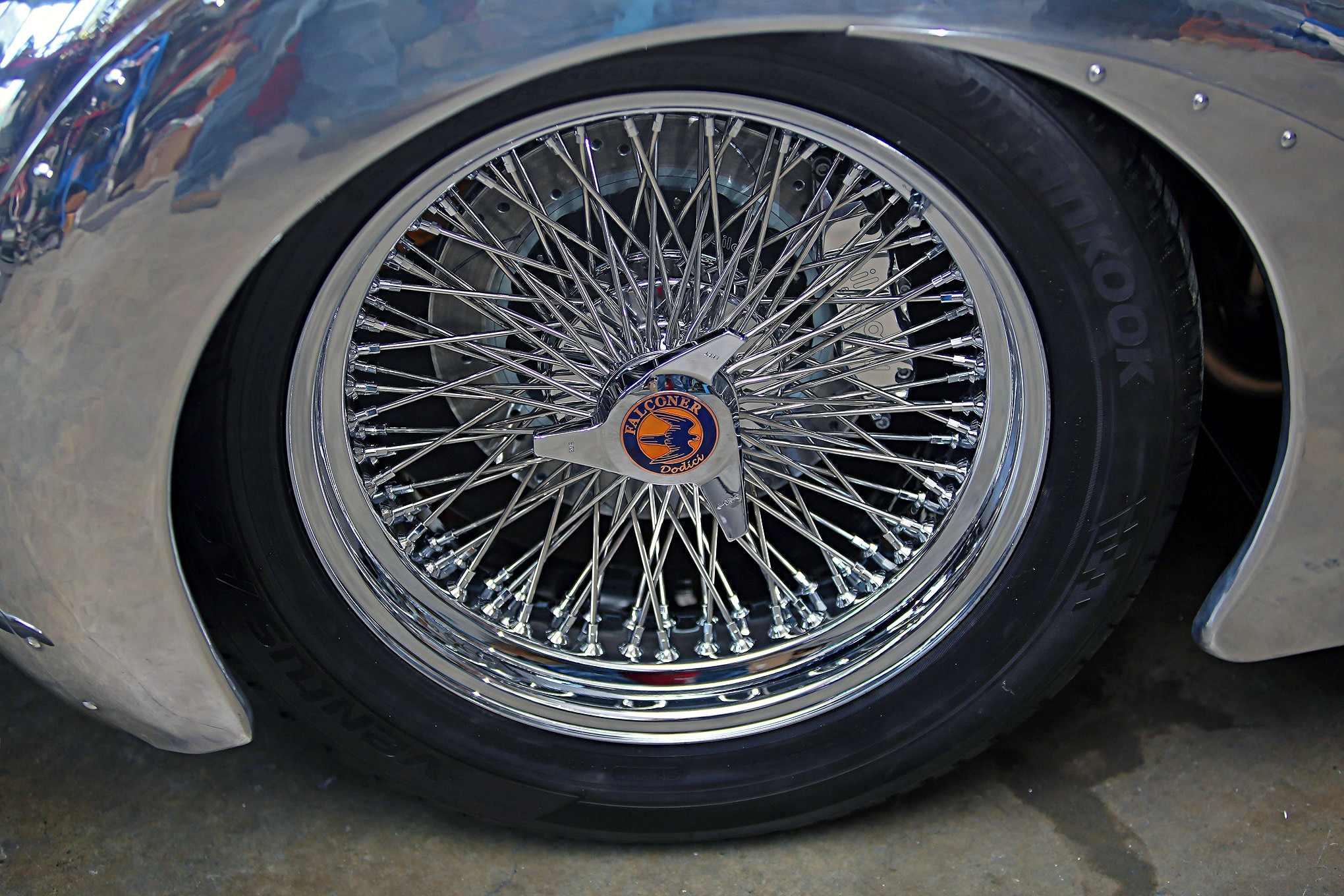 Brakes are from Wilwood, with 14-inch rotors all around. The front uses six-piston calipers, four-pistons for in the rear. With the stack injection there was nowhere to put a vacuum port, so a Hydratech hydraulic brake system was plumbed to draw line pressure from the same pump that feeds the steering rack and pinion.