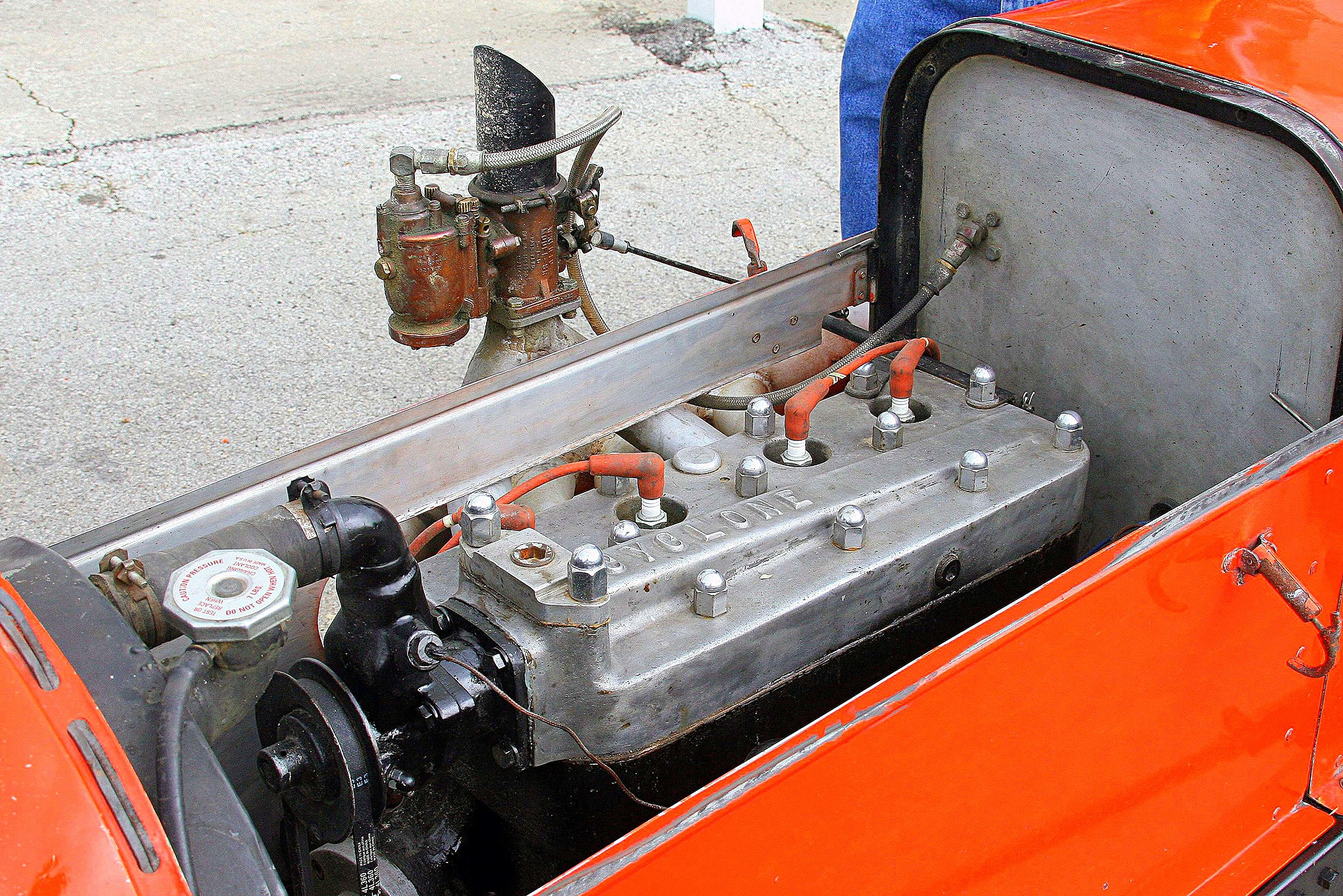 That was the Model B engine that so many used during the period. Besides the Cyclone head this car has, there were many other high-performance heads used.