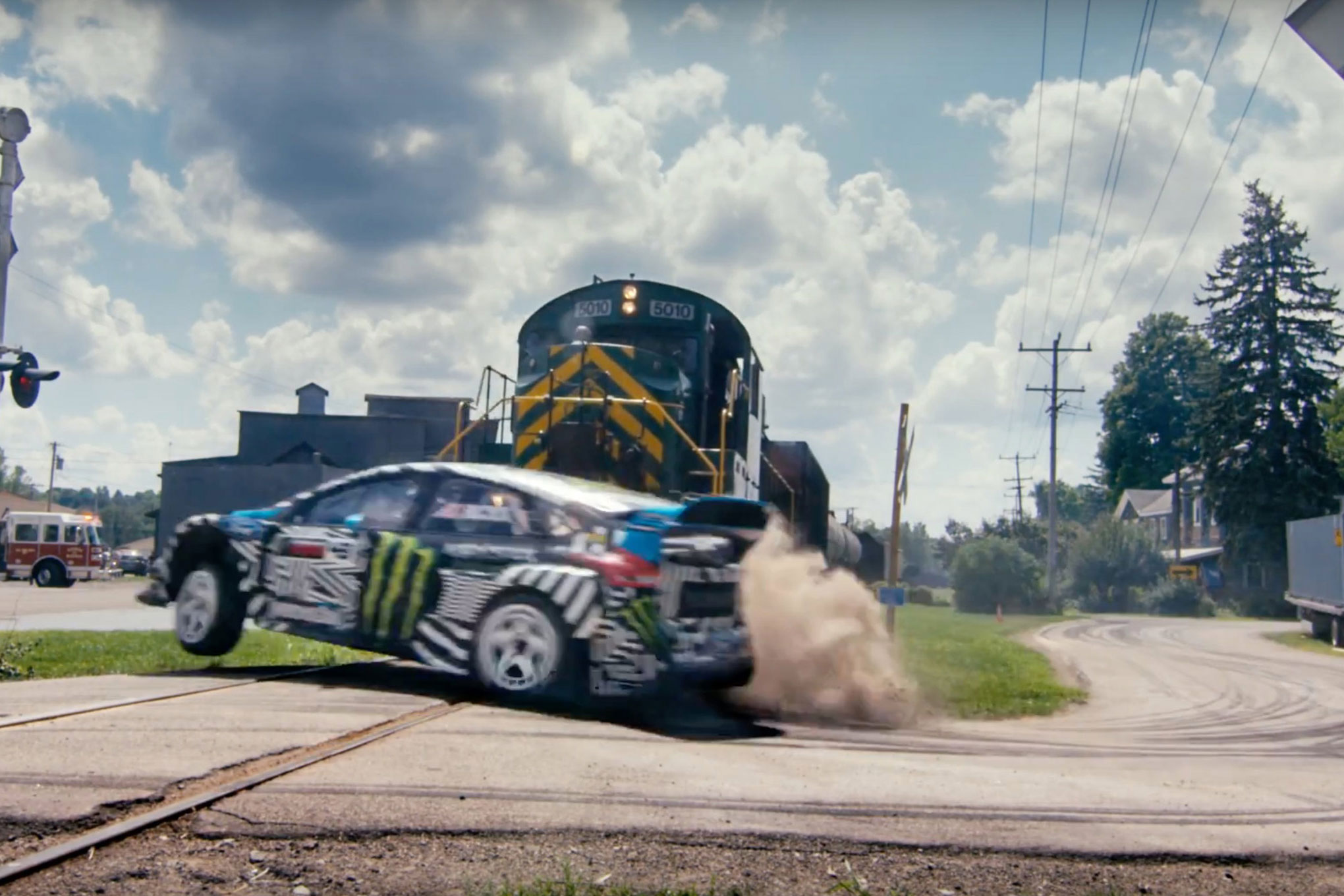 ken block s gymkhana 9 is out and this time he s tearing up the streets in a 2016 focus rs rx. Black Bedroom Furniture Sets. Home Design Ideas