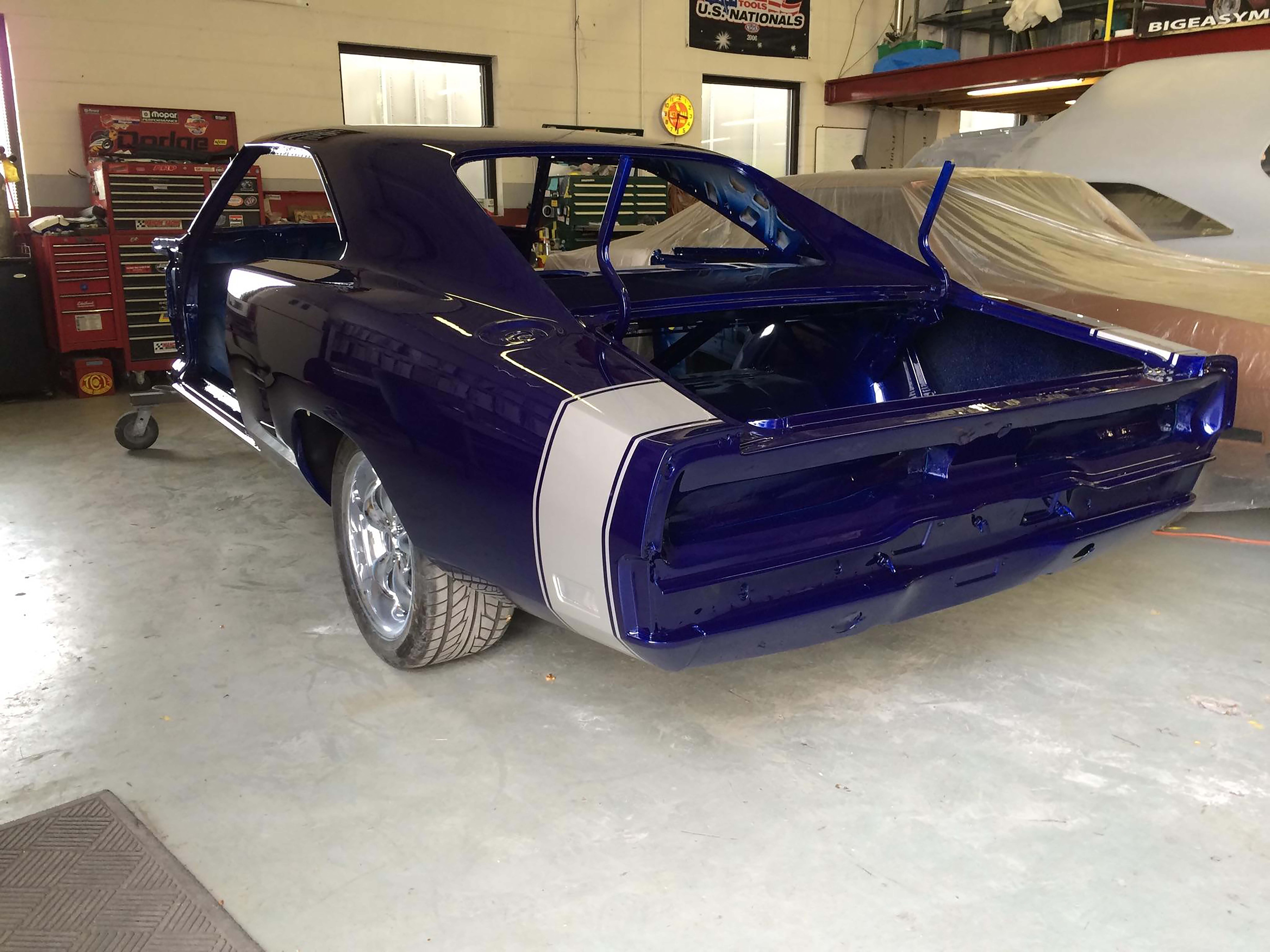 """Low and behold, when pushed back inside, the car changes to a purple color. Perhaps we should call it """"Purpleberry?"""""""